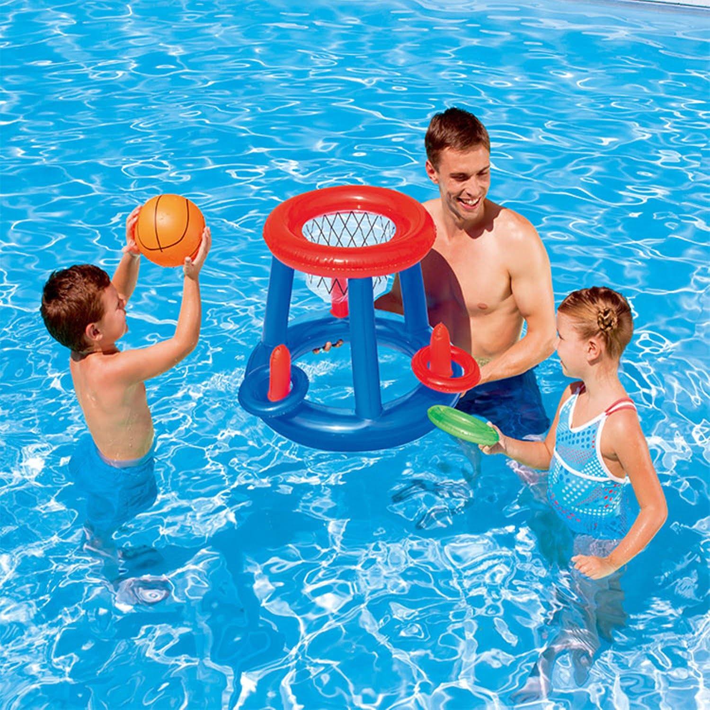 Kids Children Water Basketball Hoop Pool Inflatable Toys Swim 60cm