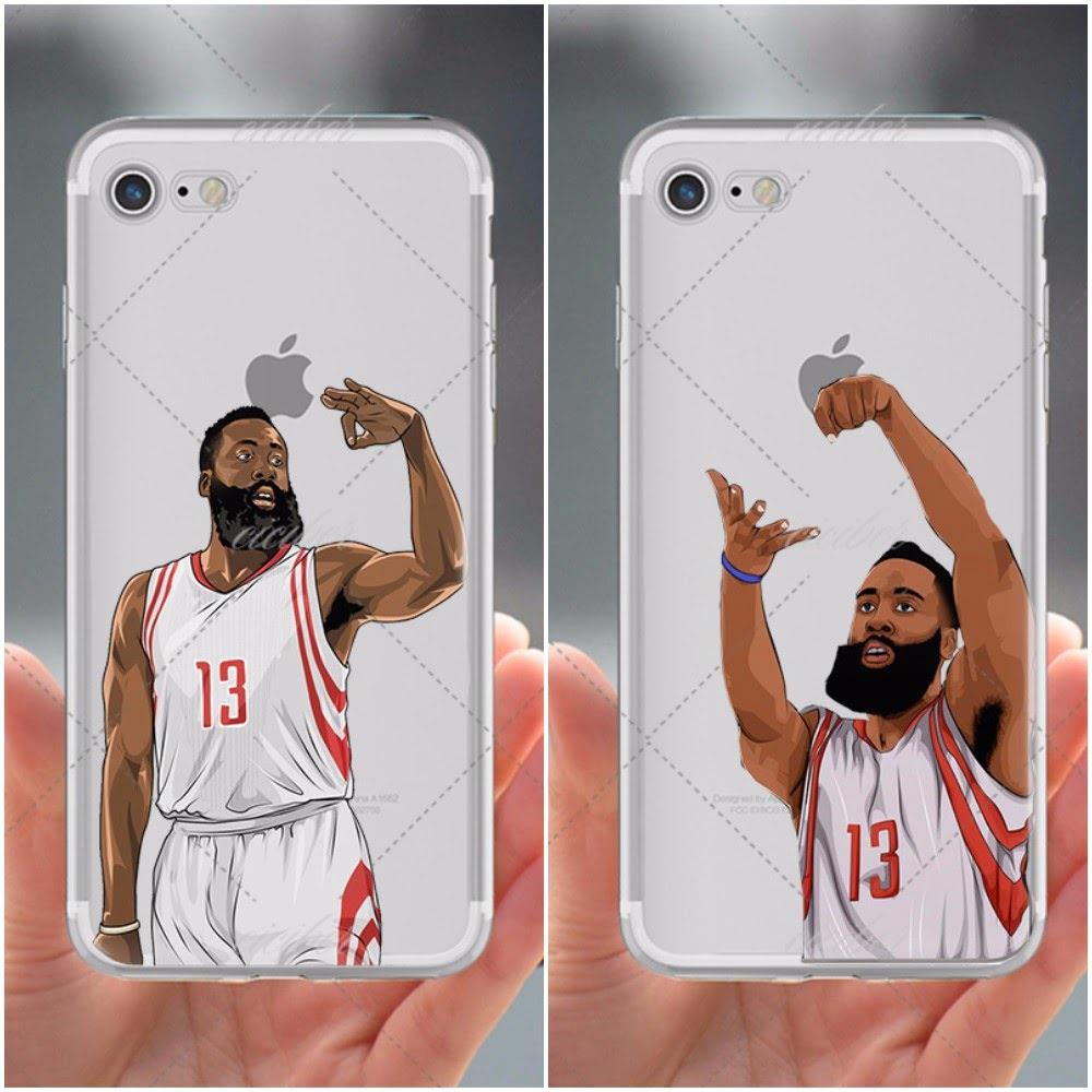 best sneakers bd57c 9fe55 Detalles acerca de Estuche Para Iphone 8 Plus Teléfono Cubierta James  Harden Barba Houston Rockets baloncesto- mostrar título original